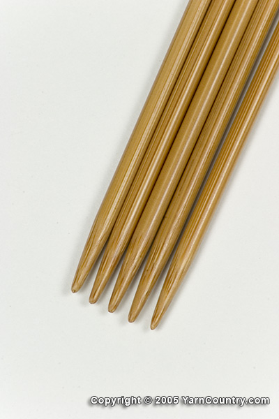 "Crystal Palace 8"" Double Pointed Bamboo Needles - US 2"