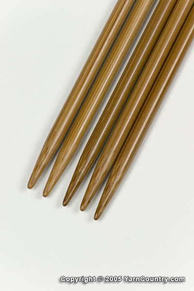"Crystal Palace 8"" Double Pointed Bamboo Needles - US 4"