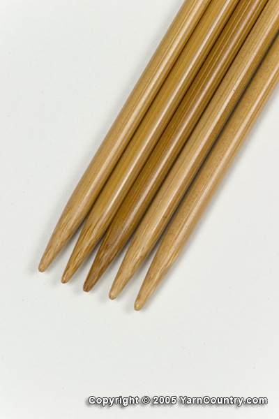 "Crystal Palace 8"" Double Pointed Bamboo Needles - US 5"