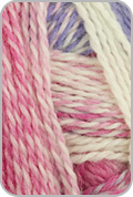 Schoppel Wolle Zauberball Crazy Yarn - White/ Pink/ Periwinkle (# 2254)
