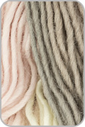 Plymouth Gina Yarn - Cream/ Pink/ Taupe (# 24)