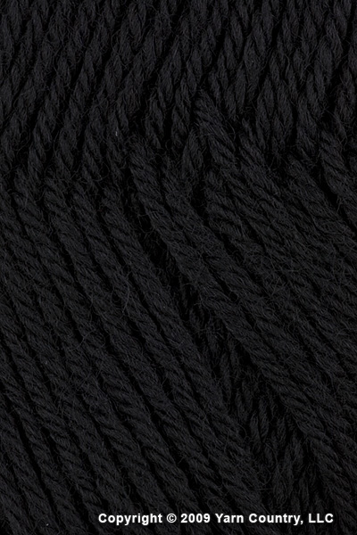 Plymouth Galway Worsted Yarn - Black (# 009)