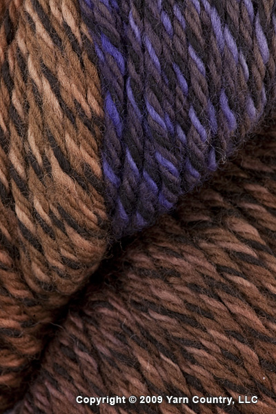 Araucania Panguipulli Yarn - Brown/ Purple/ Violet (# 06)