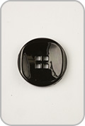 Buttons Etc Buttons Etc Buttons - Small Double Square Button - Black