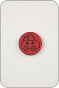 Buttons Etc Buttons Etc Buttons - Car Button - Red
