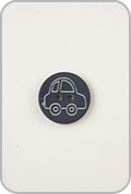 Buttons Etc Buttons Etc Buttons - Car Button - Navy
