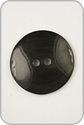 Plymouth Plymouth Buttons - Black Horn Small Round Button