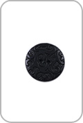 Renaissance Buttons Renaissance Buttons - Ornate Corozo Button - Black (Large)