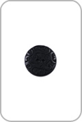 Renaissance Buttons Renaissance Buttons - Ornate Corozo Button - Black (Small)