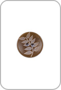 Renaissance Buttons Renaissance Buttons - Leaf Corozo Button - Brown