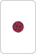 Renaissance Buttons Renaissance Buttons - Scottie Button - Red