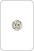 Renaissance Buttons Renaissance Buttons - Scottie Button - White
