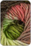Noro Kureyon Yarn - Lime/ Coral/ Pink/ Brown (# 345)
