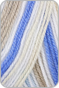 Plymouth Toybox Candy Yarn - Blue /Taupe (# 435)