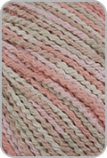 Crystal Palace Cotton Twirl Print Yarn - Peach Taffy (# 2245)