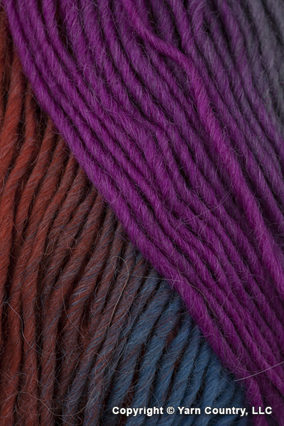 Plymouth Gina Yarn - Magenta/ Turquoise/ Rust/ Olive  (# 20)