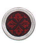 Danforth Danforth Buttons - Leaf Medallion / Red Button