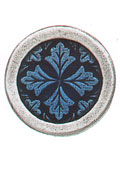 Danforth Danforth Buttons - Leaf Medallion / Cobalt Button