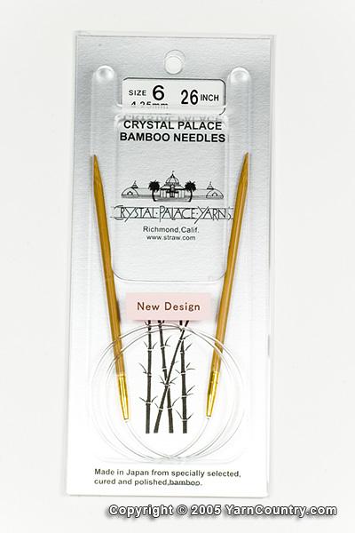 """Crystal Palace 26"""" Circular Bamboo Needles - US 6"""