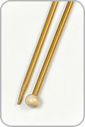 "Crystal Palace 12"" Single Pointed Needles - Size - US 8"
