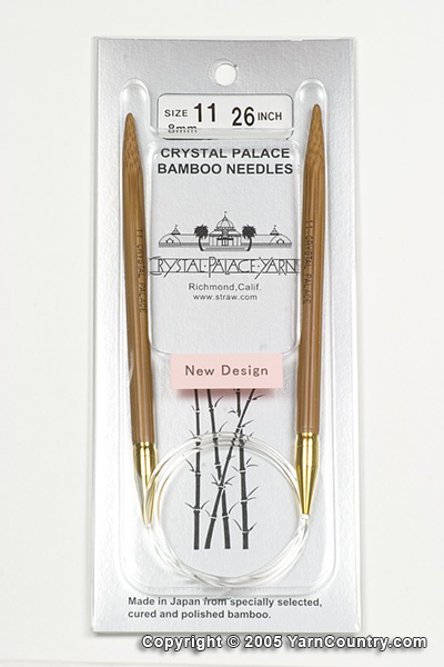 """Crystal Palace 26"""" Circular Bamboo Needles - US 11"""