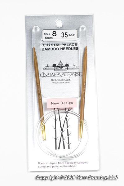 """Crystal Palace 35"""" Circular Bamboo Needles - US 8"""