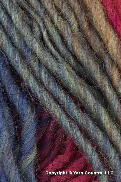 Plymouth Gina Yarn - Orange/ Red/ Blue (# 09)