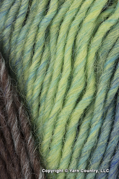 Plymouth Gina Yarn - Gray/ Blue/ Mint (# 17)