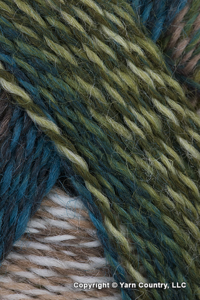 Schoppel Wolle Zauberball Crazy Yarn - Teal/ Olive/ Beige/ Brown (# 22
