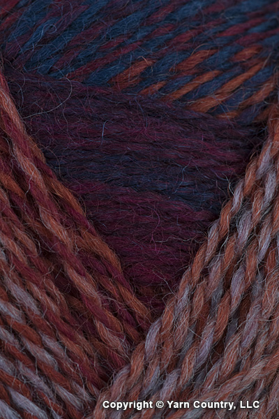 Schoppel Wolle Zauberball Crazy Yarn - Rust/ Red/ Blue/ Grey (# 2231)