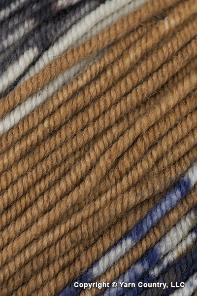 Schoppel Wolle Ambiente Yarn - Light Brown/ Blue/ Natural (# 2295)