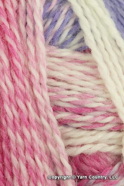 Schoppel Wolle Zauberball Crazy Yarn - White/ Pink/ Periwinkle (# 2254