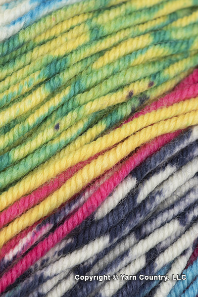Schoppel Wolle Ambiente Yarn - Pink/ Sky/ Yellow/ White (# 2321)
