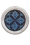 Danforth Danforth Buttons - Leaf Medallion / Cobalt Button