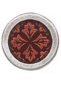 Danforth Danforth Buttons - Leaf Medallion / Citrus Button